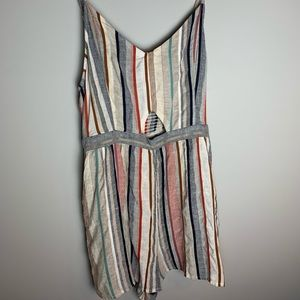 American Eagle XL Linen striped romper